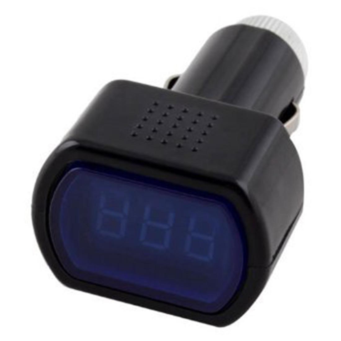 12-24V Voltmeter Gauge Retail LED Digital Car Volt Voltage Meter Battery Electric Cigarette Lighter Univesal Car Auto