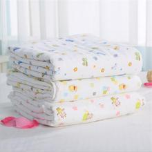 85*85 6 layers multi-use 100% cotton gauze Baby Blanket Swaddle Cartoon Printed Cotton Toddler for NewBorn Receiving Blankets
