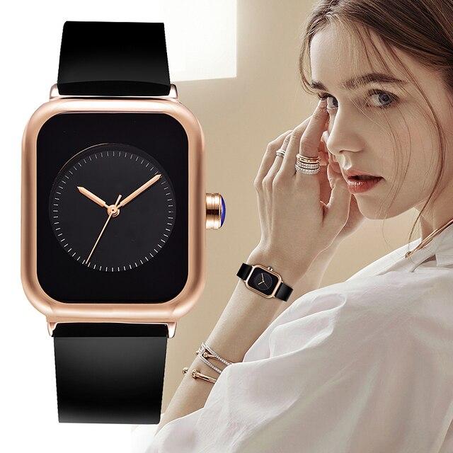 REBIRTH Ladies Watch Women's Silicone Sport Bracelet Watches Luxury Watches For