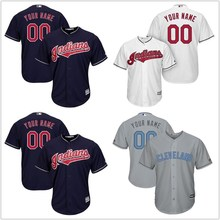 4ab88891 MLB Men's Cleveland Indians White Cool Base and Flex Base Custom Jerseys