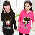 Chegada nova primavera outono meninas hoodies veludo de manga longa bebê menina camisolas dos desenhos animados pulôver causal crianças outwear jaqueta