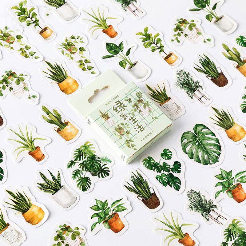 46pcs/box Delicious Summer Paper Stickers Diy Hand Sticker Gift Bag Sealing Kawaii Decoration Adhesive Tape Stationer Supplies