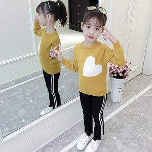 Image 4 - 소녀를위한 새로운 여자 스웨터 인쇄 스웨터 봄 아이 옷 십대 소녀 상위 10 대 소녀를위한 어린이 의상 6 8 12 년