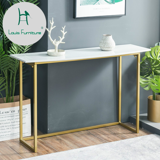 Louis Fashion Coffee Table North European Marble Porch Cabinet Wall Simple  Modern Living Room Sofa Back