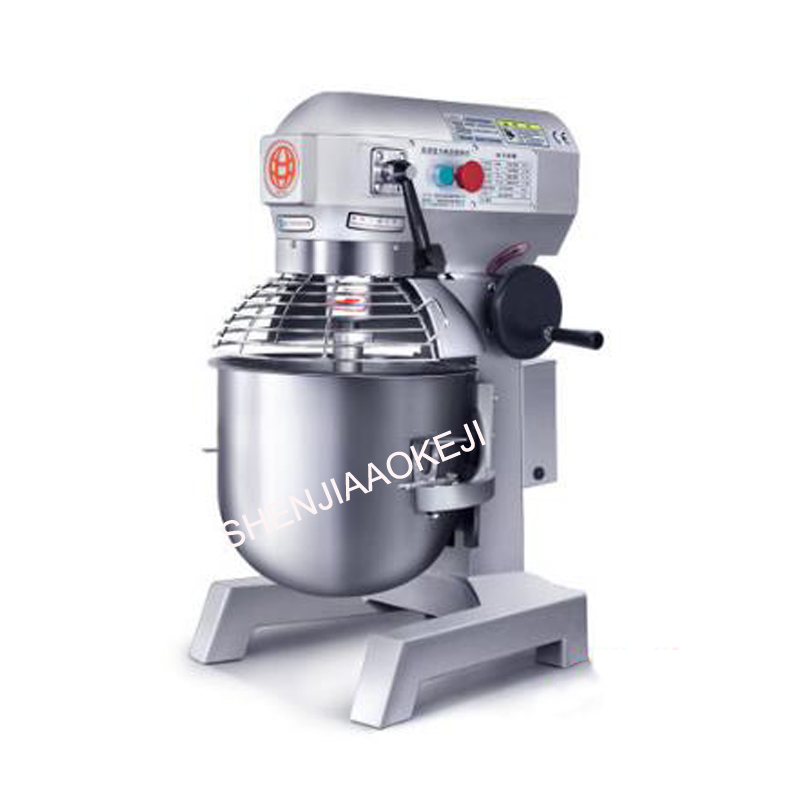 B20B Multifunctional 3kg dough mixer 20L Automatic electric Dough stirring machine Kneading egg beater 220V 1PC mtj practical dough machine high quality bread dough cutter and rounder machine dough ball making machine 220v 380v 1pc