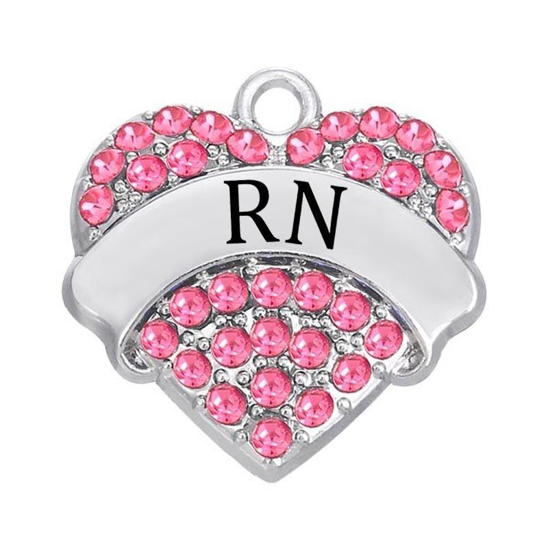 aliexpress com buy rhodium plated medicine message rn charms