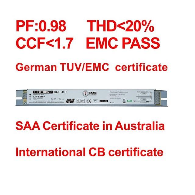 1x36 W/40 w 1*36 w/40 w 36 W reator eletrônico 36 w reator eletrônico para lâmpada fluorescente de 40 W T8 TJB-E136P 3aaa zl-3a