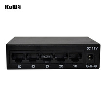 5 Ports 10/100Mbps Fast Ethernet Switch Network Full Half Duplex Transfer High Performance Mini Ethernet Switch HUB Desktop RJ45