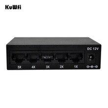 Conmutador Ethernet rápido de 5 puertos de 10/100 Mbps, red de conmutación Full Half Duplex Transfer, Mini conmutador Ethernet de alto rendimiento, HUB de escritorio RJ45