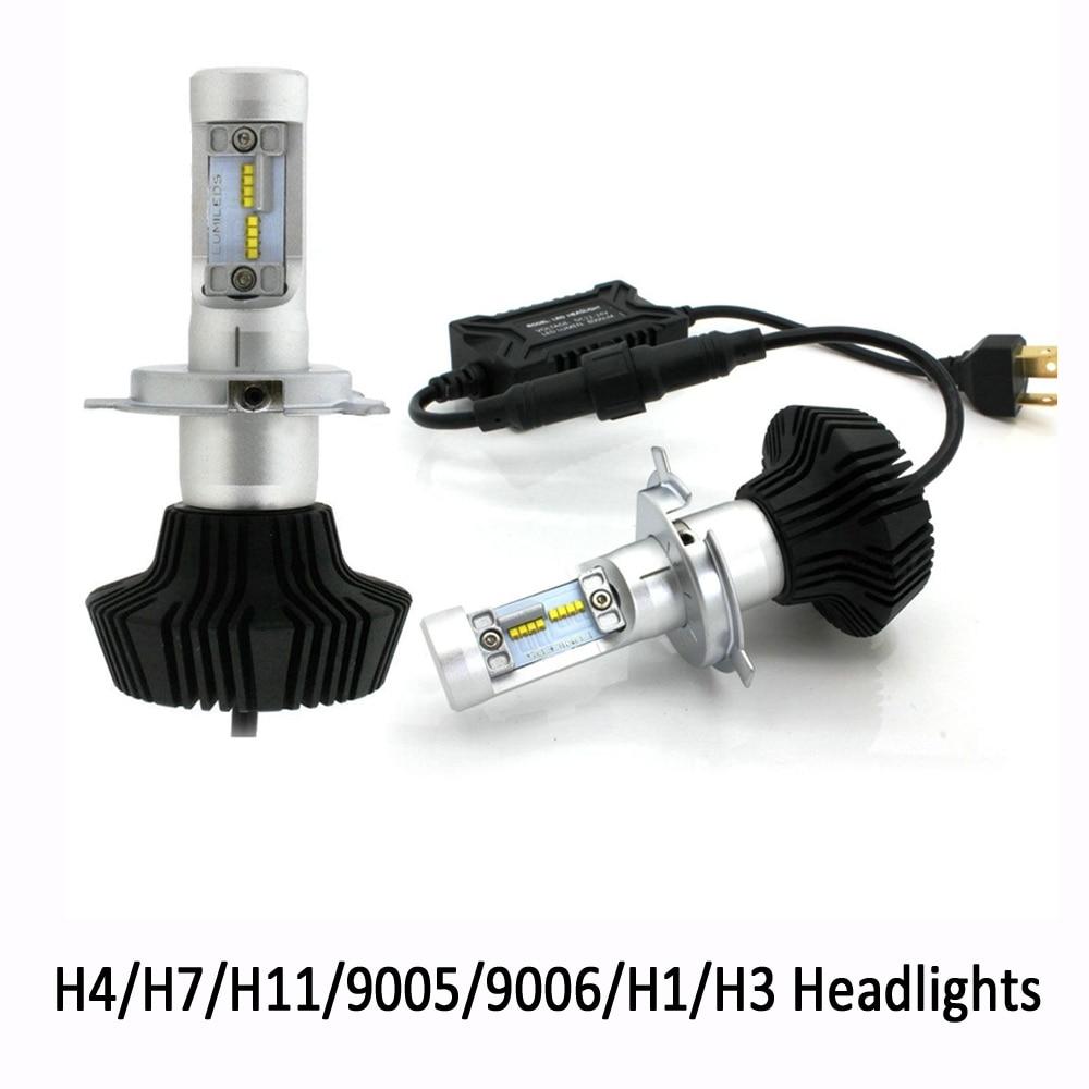 1 set h4 car led headlight kit high low beam h7 h11 9005 9006 h1 4000lm 6000k super white drl. Black Bedroom Furniture Sets. Home Design Ideas