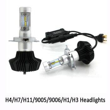 2pcs H4 LED Headlight Kit High Low Beam H7 H11 9005 9006 H1 4000lm 6000K Super White Fog Light For Auto Car Bulbs 12V
