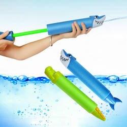 33 см летняя водяная пушка игрушки пистолет Blaster шутер открытый бассейны Мультфильм Акула-крокодил игрушки для сквирта для детей