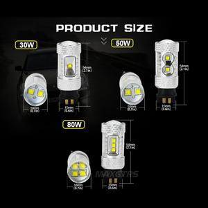 Image 2 - 2x רכב עמילות אור LED PW24W PWY24 CREE שבב DRL בשעות היום ריצת אור איתות ערפל החלפת הנורה עבור אאודי a3 a4 a5 q3
