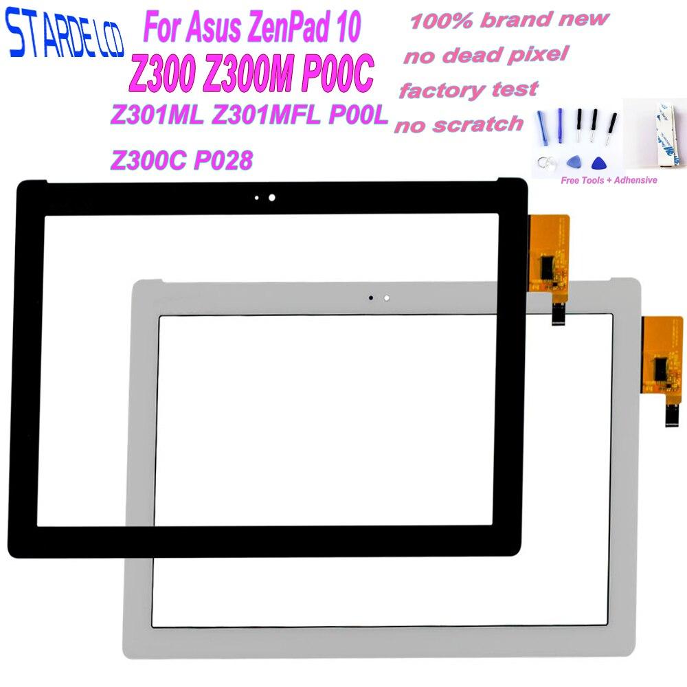 Bilgisayar ve Ofis'ten Tablet LCD'ler ve Paneller'de 10.1 Asus ZenPad 10 Z300 Z300M P00C Z301ML Z301MFL P00L Z300C P028 P01T dokunmatik ekran digitizer paneli sensörü Tablet parçası title=