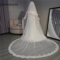 New Arrival Two Layer wedding veils long 2019 White Ivory long veil wedding accessories veu de noiva Bridal veil voile mariage