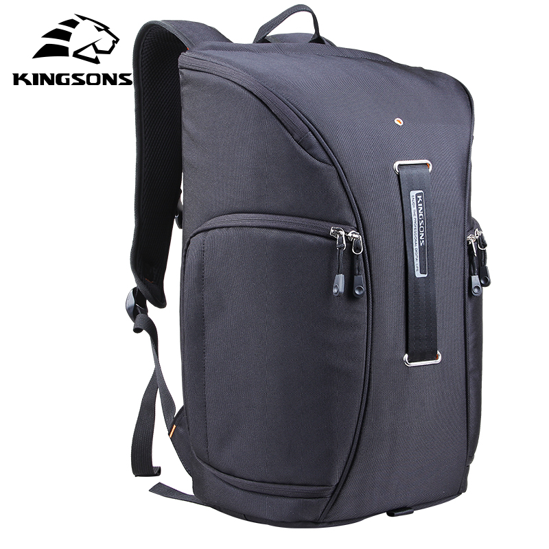 Kingsons Brand  New Backpack for Men Women Digital DSLR Photo Padded Backpack w/ Rain Cover Waterproof Camera Video Soft Bag free shipping new lowepro mini trekker aw dslr camera photo bag backpack with weather cove