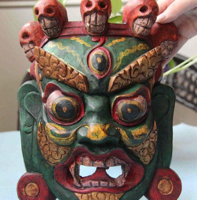Chinesischen Buddhismus Handarbeit Alte Holz Schnitzen Gemalt