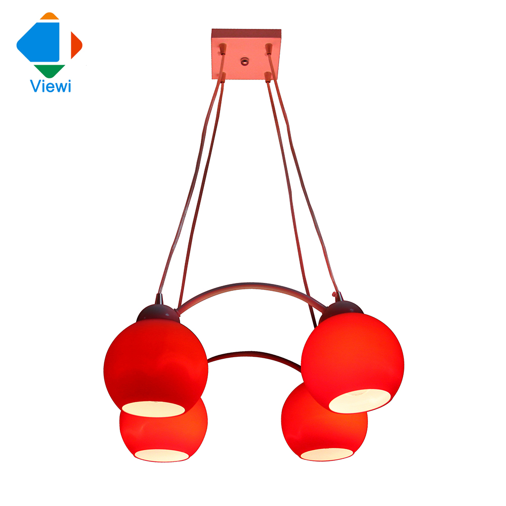 Deckenleuchte Kronleuchter Moderne Europische Kreative Esszimmer Lampe 4 Stcke E27 Rot Charme Milchglas Licht Fre