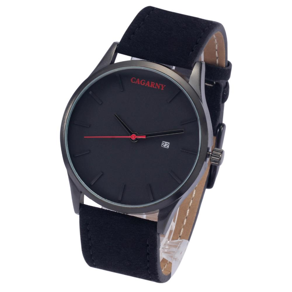Prix pour Cagarny marque de luxe montre à Quartz hommes militaire bracelet en cuir étanche montres Casual Relogio Masculino montres horloge
