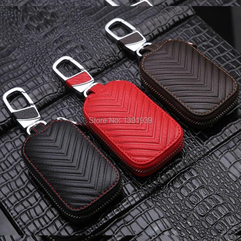 Car key wallet case Genuine Leather for Opel Mokka Corsa Karl Adam Meriva Insignia Zafira Ampera Antara Cascada free shipping in Key Case for Car from Automobiles Motorcycles