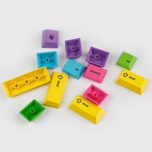 Pbt 13 клавиш rinbow колпачки сублимации для Игры Механическая клавиатура