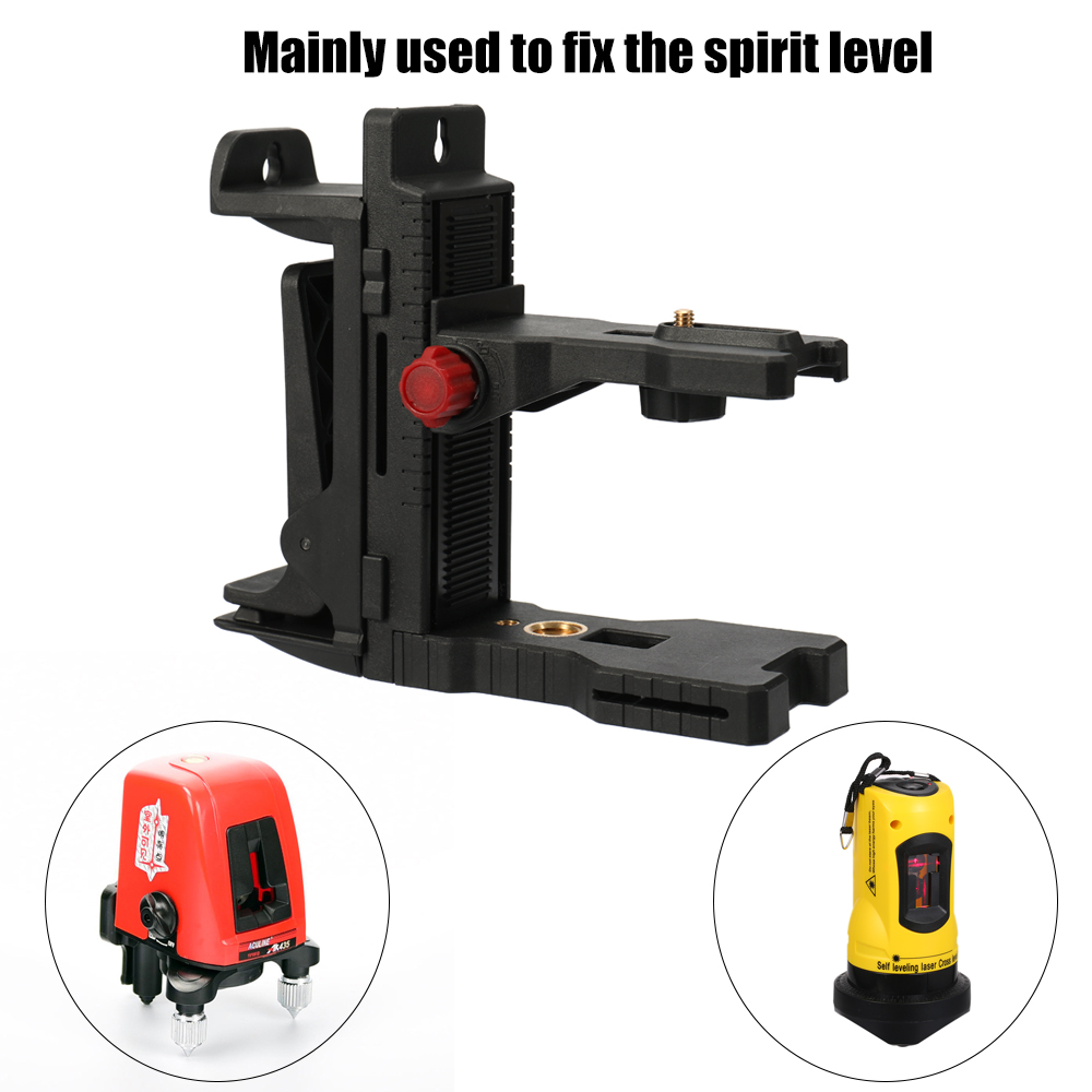 цены Adjustable laser level Magnetic Wall Mounted Bracket Interface Infrared Level Hang Wall Hanger horizontal instrument bracket