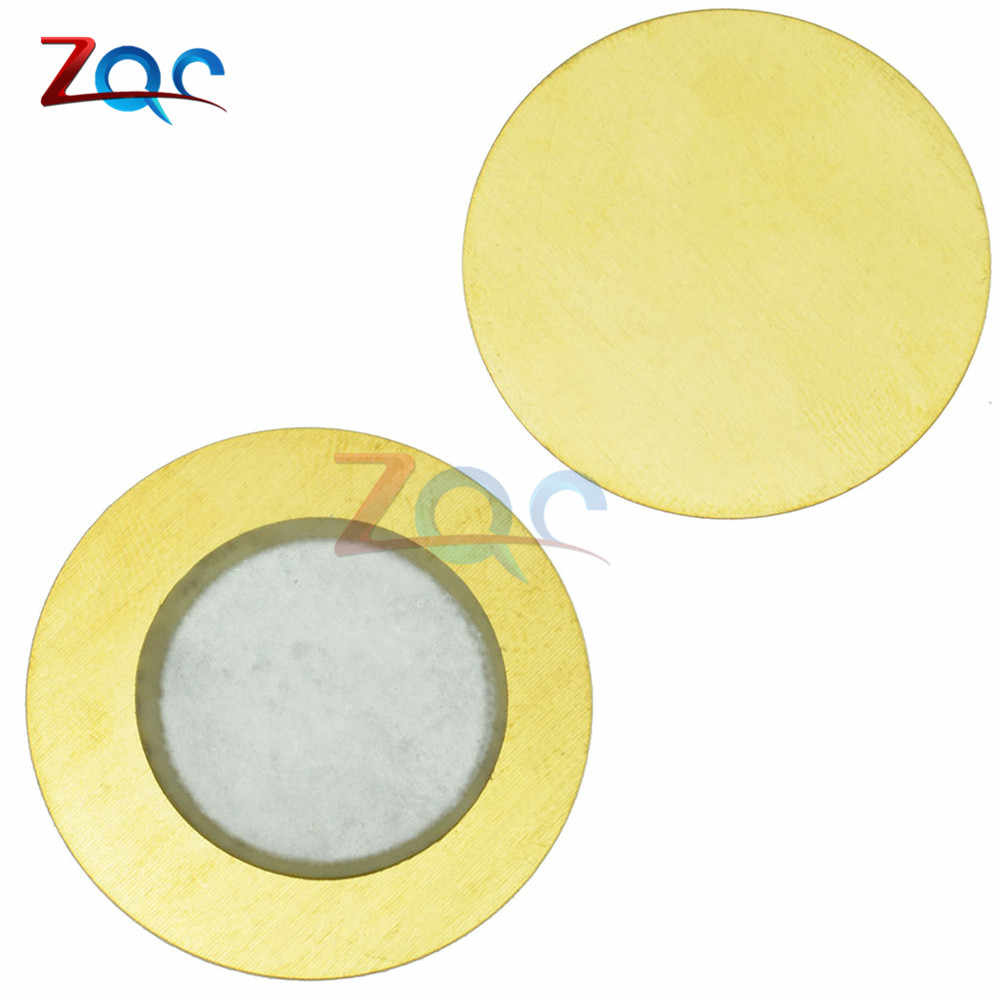 10pcs 12mm 15mm 18mm 20mm 27mm 35mm Piezo Elements Sounder Sensor Pad Round Trigger Drum Disc Copper 6.5KHZ