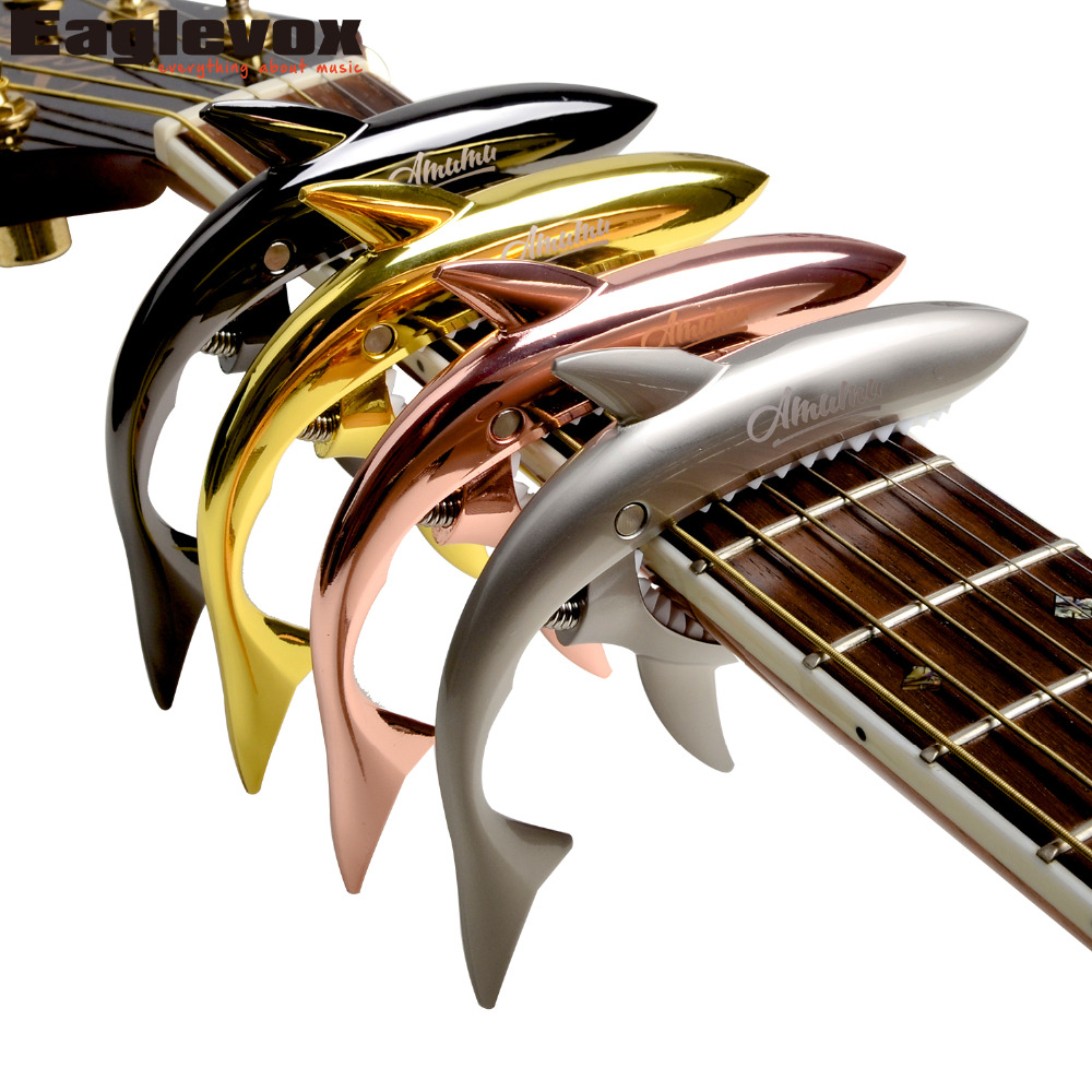 Shark Capo for Acoustic Electric classical Guitar Zinc Alloy Musical Instrument Guitar Accessories GC-30 shark capo for acoustic electric classical guitar zinc alloy musical instrument guitar accessories gc 30