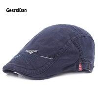 GEERSIDAN New All Season Cutton Berets Caps For Women Iron Logo Peaked Caps Fashion Black Berets