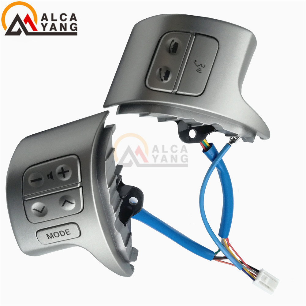 High Quality Bluetooth Steering Wheel Audio Control Switch For Toyota Corolla ZRE15 2007-2010 84250-02200 steering wheel switch audio bluetooth control 84250 02560 8425002560 for toyota rav4 corolla 2014 2015