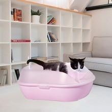 New Pine Cat Litter Pot Large Supplies Toilet Semi-closed Shovel Pet Box Sifting Tray Tool