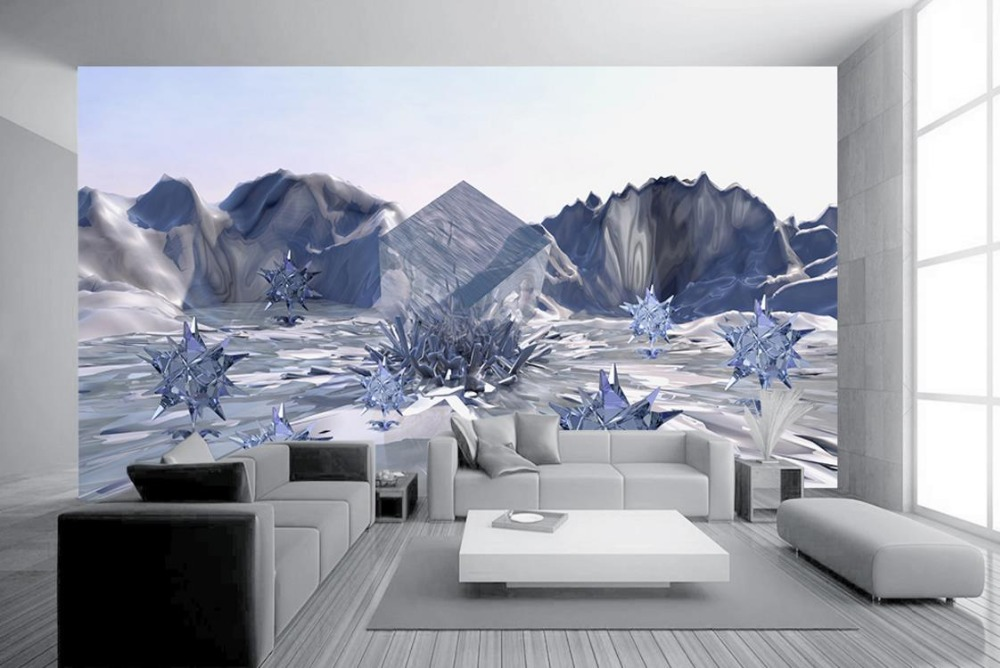 Backdrop Wall papers Home Decor Living Room Planet Home improvement 3D Painting Wallpaper