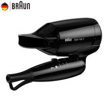 Braun мини фен для волос 130 Инструменты для укладки волос Профессиональный складной электрический фен быстрая сушка складной фен