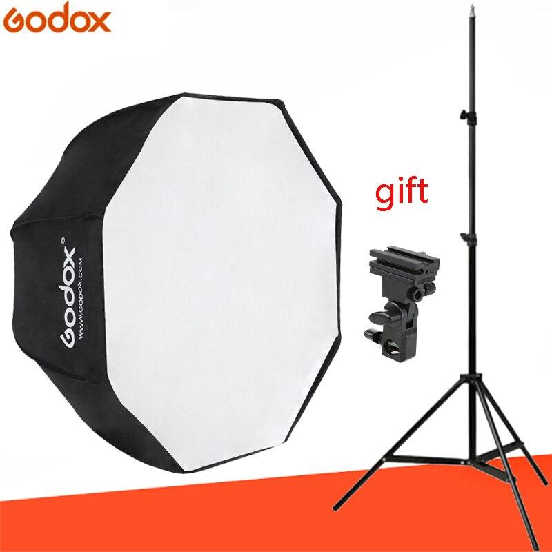 Godox 120 cm/47in parapluie octogonal boîte souple portable octogonal ceinture 1.9 m lumière support libre d'envoyer E outil pour studio photo