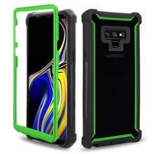 Ağır Koruma Doom zırh PC TPU Telefonu samsung kılıfı Galaxy S8 S9 S10 Artı Not 8 9 S10e E Darbeye toz geçirmez Kapak