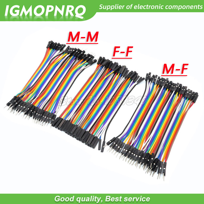 120pcs 40PIN 10CM Dupont Line Male To Male + Female  And Female To Female Jumper Dupont Wire Cable For Arduino DIY KIT GMOPNRQ