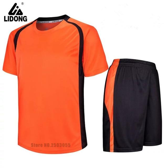 Diy niños camisetas de fútbol de manga corta ropa de entrenamiento  personalizado equipo número nombre 7 3332734afe0a8