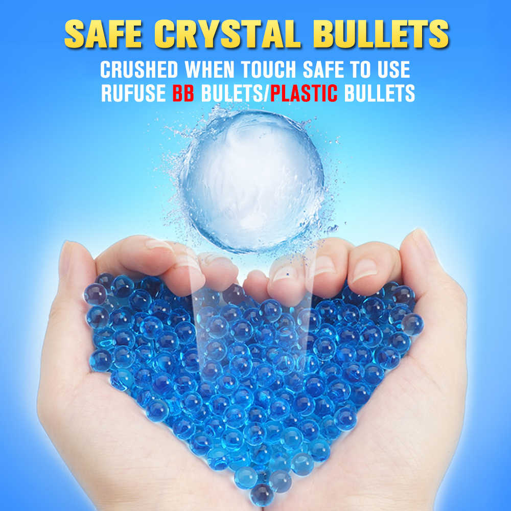 500 шт 10000 шт игрушки пистолет аксессуары пули цветные мягкие хрустальные водные Пейнтбольные пули водные шарики водный пистолет игрушки