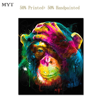 MYT Free Shipping High Quality Print After Plus 50 Oil Painting Monkey Home Decor Picture For