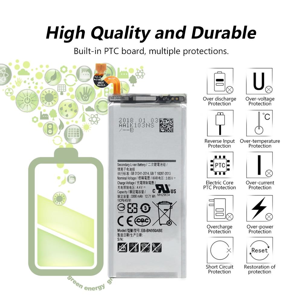 EB-BN950ABE Battery For Samsung Galaxy Note 8 N9500 N9508 N950FD N950U  N950W SM-N950D SM-N950F SM-N950FD SM-N950F/DS SM-N950J
