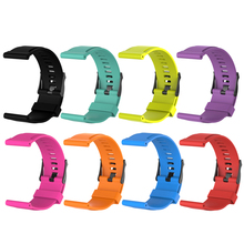 Durable Soft Smartwatch Band Silicone Watchband Replacement for Suunto Traverse/CORE Brushed Steel watch