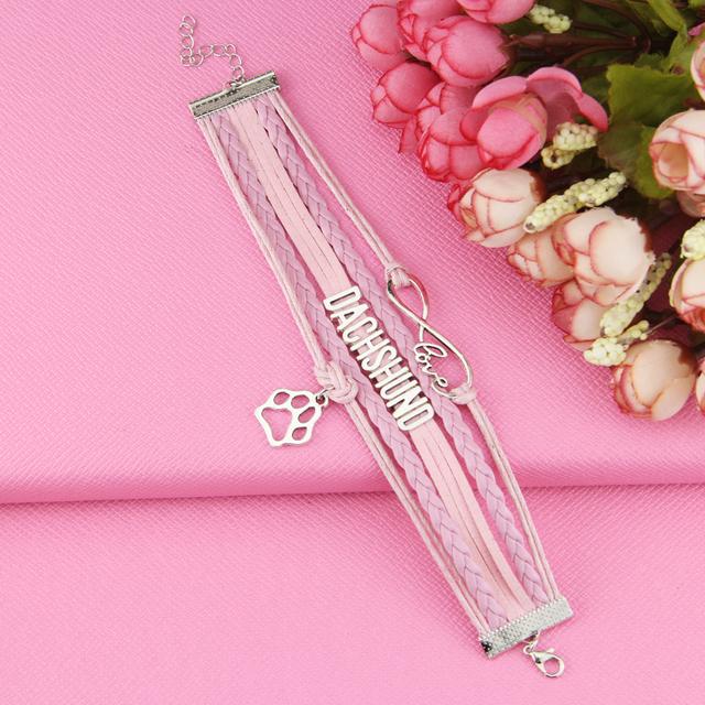 NEW Infinity Dachshund Bracelet