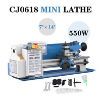 MINI Metal Milling Lathe 550w 2500 rpm 7 X 14 precision and variable speed for wood working