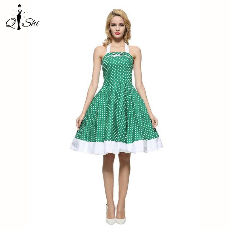 Summer Dress 2016 Vintage Midi Dresses Jurken 60s 50s ...