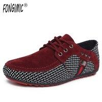 FONGIMIC Primavera Inglaterra tendência de verão dos homens respirável sapatos casuais moda sapatos confortáveis lace up durante todo o jogo dos homens sapatos único