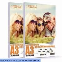 50 fogli per confezione A3 240g 260g 300g double side inkjet lucida carta fotografica