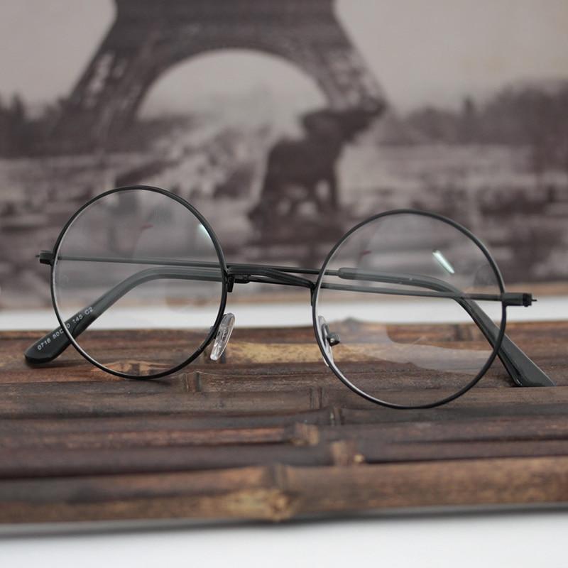 Jn superior Gafas para leer espejo lente redonda Acero inoxidable ...