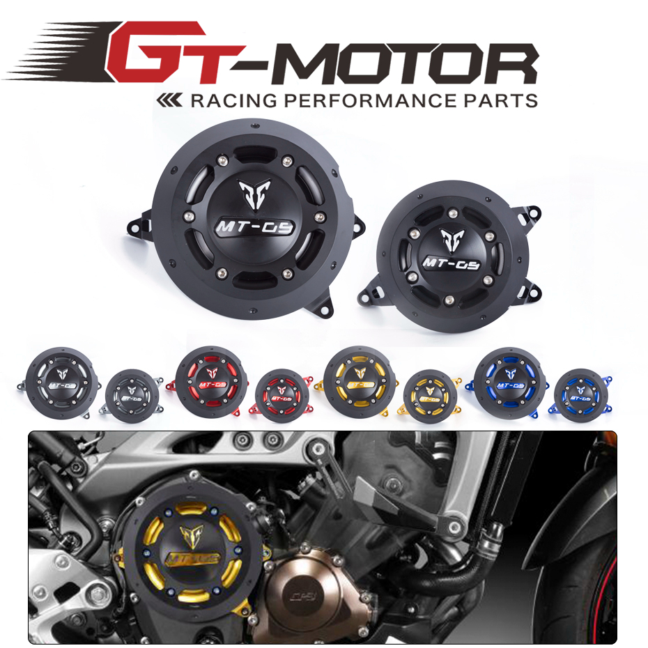 GT Motor - NEW Engine Guard Protector Engine Guard Case Slider Cover Protector Set For YAMAHA MT-09 MT09 tracer 2014-2017 free shipping soft motor cover cap motor guard protector for dji mavic pro