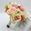 2017  Wedding Bouquet Romantic Style Artifical Flowers Rose Hand Holding Bridesmaid Bouquets for Bridal Cheap bouquet de mariage
