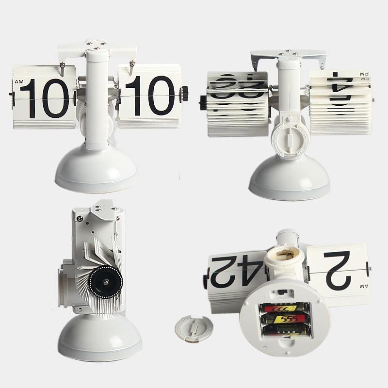 Galda pulkstenis Radošās svari Flip pulksteņa skaņas vadība LED - Mājas dekors - Foto 2